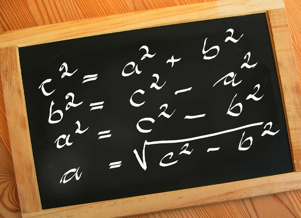 Blackboard with mathematic equations