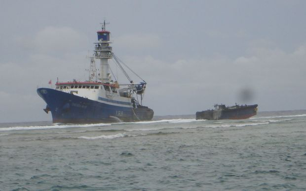 The Taiwan purse seiner Fong Seong 666 had been stuck since May 12 on a reef in Majuro Atoll, Marshall Islands.