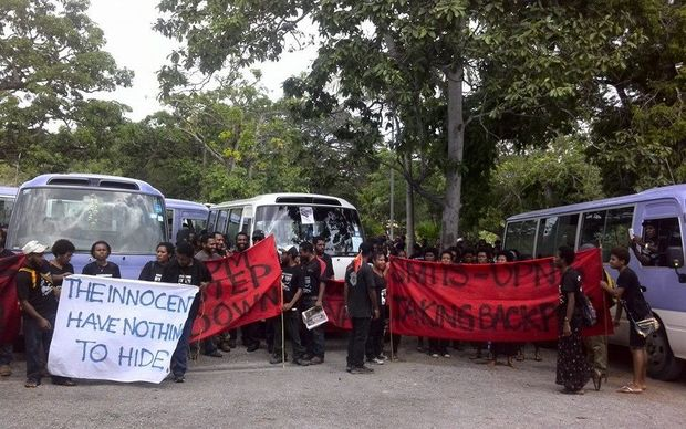 Students at the University of Papua New Guinea have been boycotting classes in protest at the Prime Minister refusing to stand down.