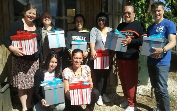 Church group City Impact donates Christmas gift boxes every year.