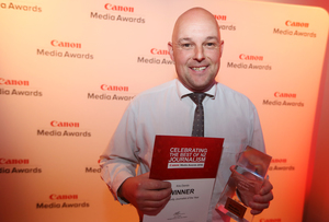 Kris Dando - Community reporter of the Year - Canon Media Awards 2016