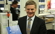 Finance Minister Bill English's traditional inspection of printed copies of the Budget.