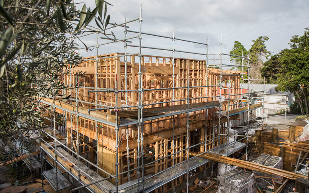 Building site in an East Auckland suburb