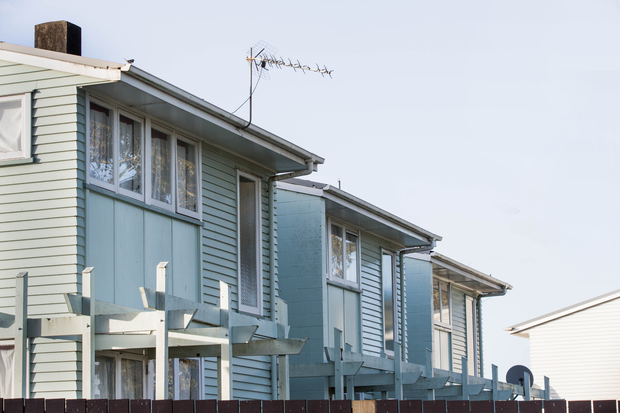 A group of state houses in a South Auckland suburb.