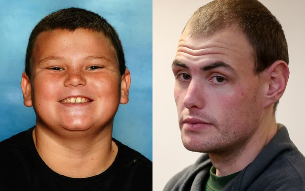 Eric McIsaac​, right, has pleaded guilty to murdering his 10-year-old brother Alex Fisher, left.