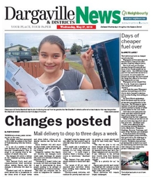 Front page of Dargaville and Districts News.