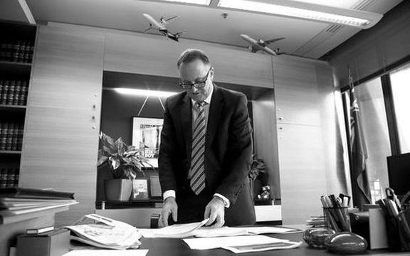 A behind the scenes look at the Prime Minister John Key and Finance Minister Bill English getting ready for  Budget 2016 on Thursday 26 May 2016.