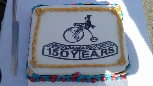 Oamaru's 150th birthday cake.