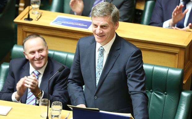 Finance Minister Bill English delivers his Budget 2016 speech to Parliament.