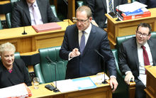 Labour Party leader Andrew Little responds after the government delivers Budget 2016.