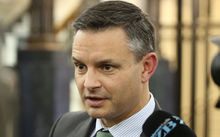 Green Party co-leader James Shaw speaking after Budget 2016.