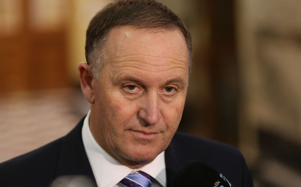 Prime Minister John Key at a media standup following the release of Budget 2016.