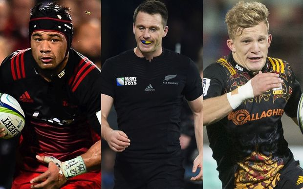 The future of the All Blacks is in the hands of players such as (from left) Jordan Taufua, Ben Smith and Damian McKenzie.