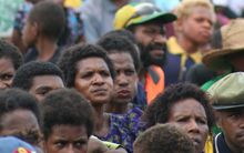 Papua New Guineans at a rally.