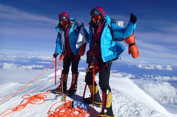 Tashi and Nungshi Malik At_Mt_McKinley_Summit