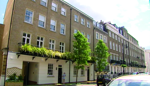 Akezhan Kazhegeldin's mansion in Belgravia, London