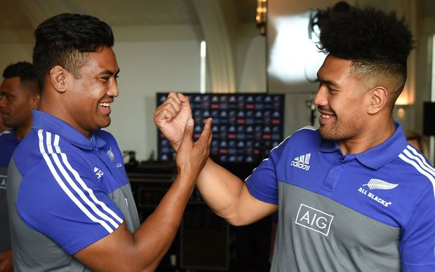 All Blacks brothers Julian and Ardie Savea.