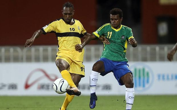 Solomon Islands pipped Vanuatu 1-0 at the Oceania Nations Cup.
