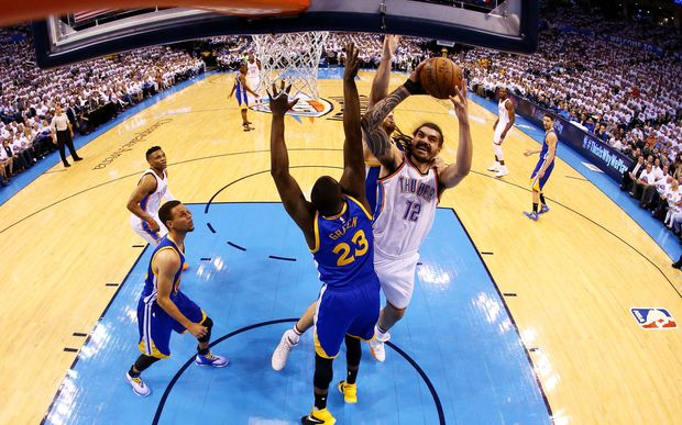 Steven Adams in action for the Oklahoma City Thunder.