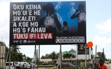 Billboard for smokefree campaign in Tonga.