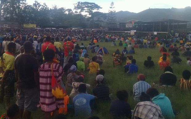 A student awareness forum in Goroka.