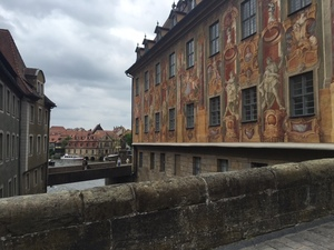 The view from a bridge in Bamberg.