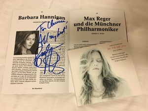A programme and CD, signed by soprano Barbara Hannigan.