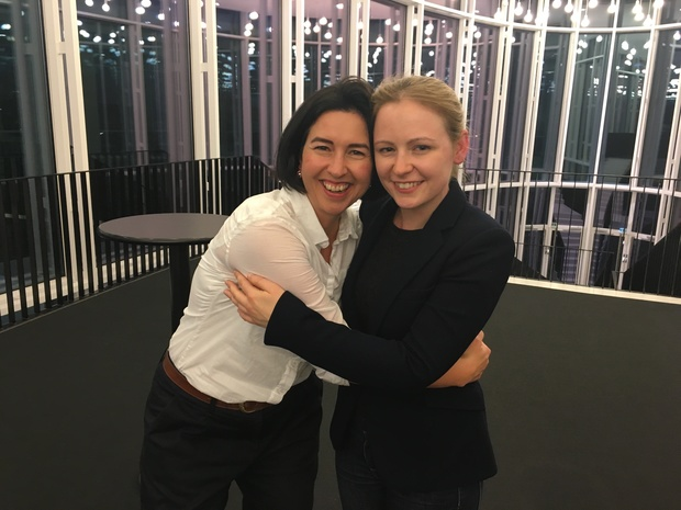 Clarissa Dunn and Gemma New, at the Mahler Competition in Bamberg, May 2016.
