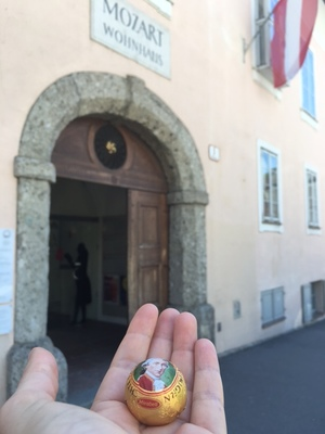 Mozart's house in Salzburg, and a delicious Mozartkugeln.