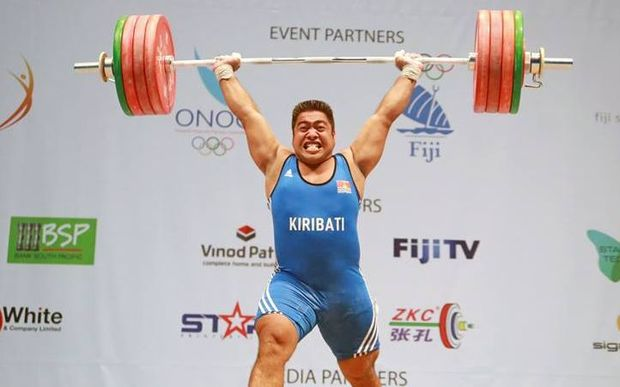 Kiribati's David Katoatau during the 2016 Oceania Championships.