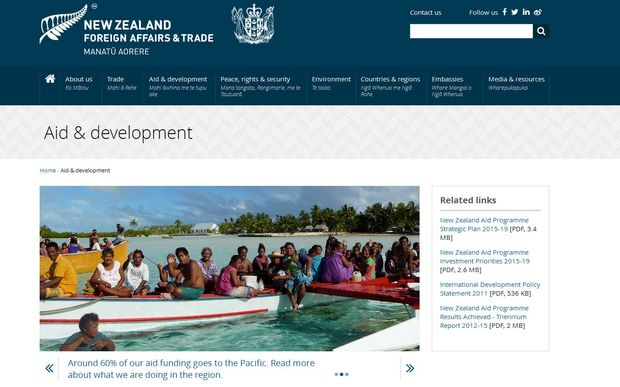 Foreign ministry website