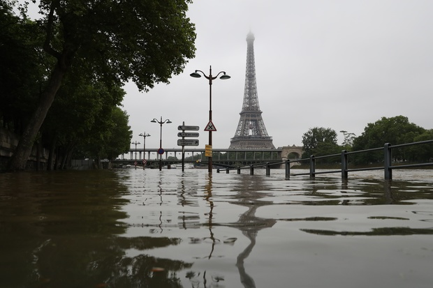 The River Seine burst its banks.
