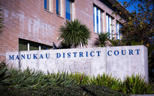 Exterior signage at the Manukau District Court