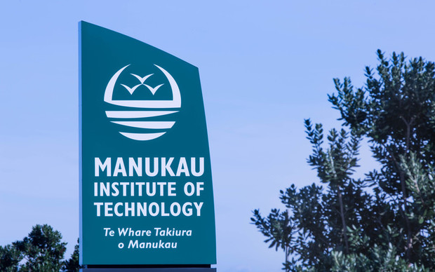 Exterior signage at the Manukau Institute of Technology