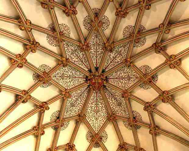The star-shaped vault of the Lady Chapel, Wells Cathedral.