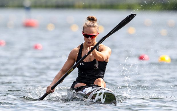 New Zealand canoe sprint champion Lisa Carrington.