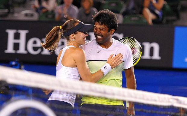 Mixed doubles combination Martina Hingis and Leander Paes.