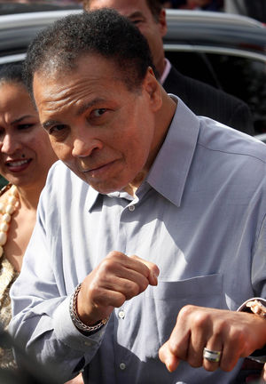 Muhammad Ali Visits Ennis in County Clare, Ireland, 1 Septmeber 2009.