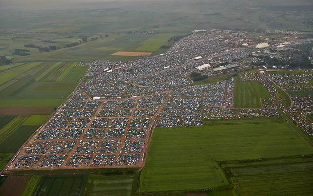 The Rock am Ring festival attracted more than 90,000 people at the airport in Mendig.
