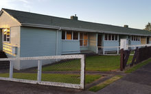One of the units on Discovery Place in Marfell, New Plymouth that is to be demolished.