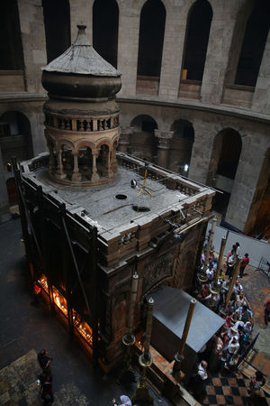 Restorations have finally begun on the ancient tomb in Jerusalem where Christians believe Jesus was buried.