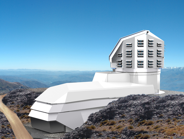 An impression of what the Large Synoptic Survey Telescope will look like.