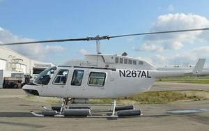 An Amur Aviation Bell 206 L4 helicopter similar to the one pictured crashed in Papua province last weekend.