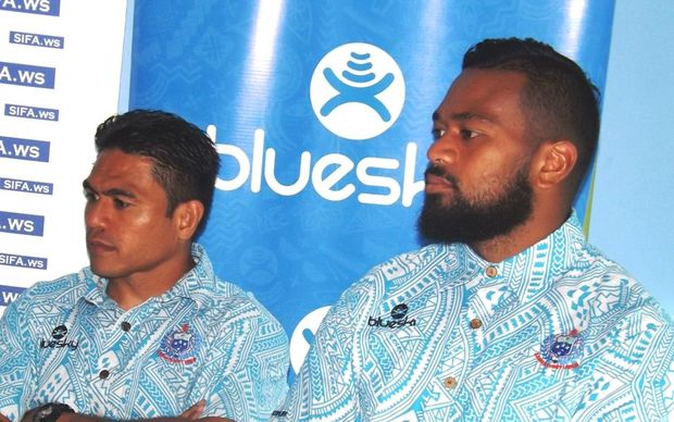 Manu Samoa captain David Lemi, (left), and his vice captain Faatiga Lemalu.