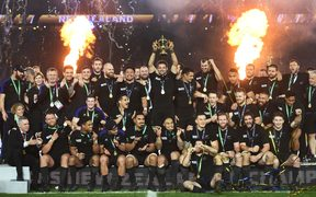 The All Blacks winning the 2015 Rugby World Cup