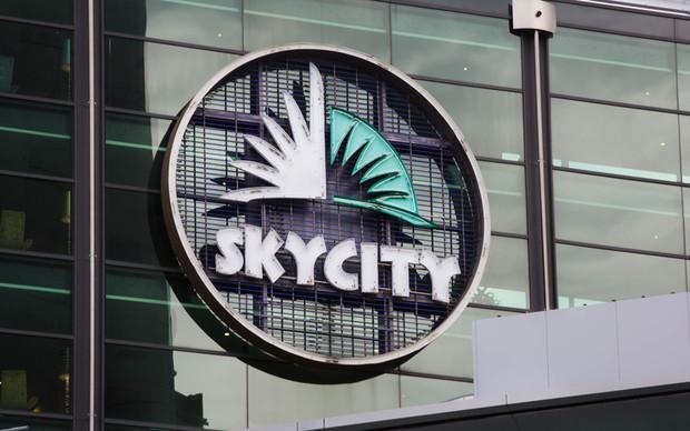 Sky City sign.