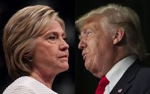 United States presidential nominees Hillary Clinton and Donald Trump.