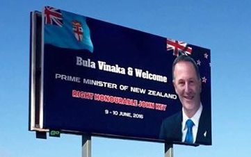 Fiji welcomes NZ PM John Key