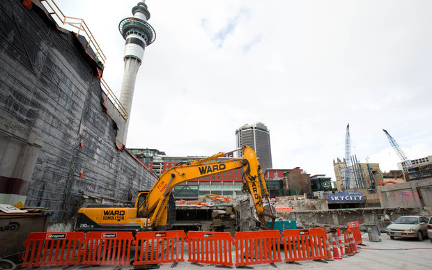 Construction site for the SkyCity Convention Centre in Auckland.