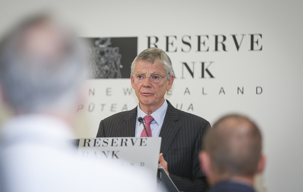 09062016 Photo: RNZ/Rebekah Parsons-King. Governor of the Reserve Bank of New Zealand, Graeme Wheeler delievers lastest OCR annoucement.